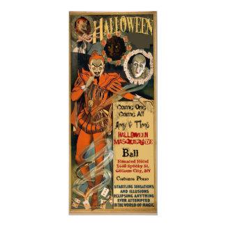 Invitaciones frecuentadas del fiesta de Halloween
