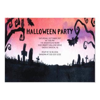 Invitaciones frecuentadas del fiesta de Halloween Invitación 12,7 X 17,8 Cm