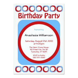Invitaciones frescas retras de la fiesta de invitación 12,7 x 17,8 cm