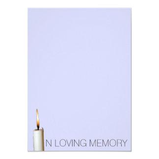 Invitaciones fúnebres - en memoria cariñosa invitaciones personalizada