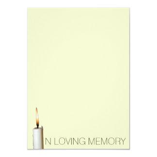 Invitaciones fúnebres - en memoria cariñosa anuncio
