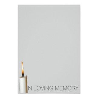 Invitaciones fúnebres - en memoria cariñosa invitación 8,9 x 12,7 cm