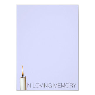 Invitaciones fúnebres - en memoria cariñosa invitación 11,4 x 15,8 cm