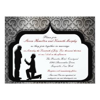 Invitaciones gay de encargo del boda de la oferta anuncios