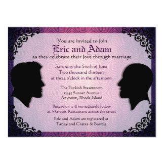 Invitaciones gay de encargo del boda de los invitaciones personales