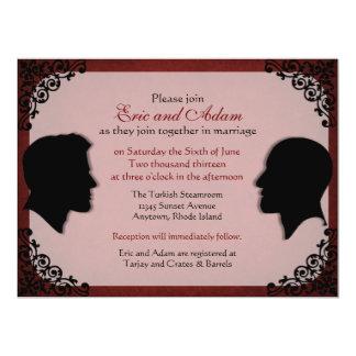 Invitaciones gay de encargo del boda de los comunicado