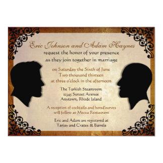 Invitaciones gay de encargo del boda de los invitación 16,5 x 22,2 cm