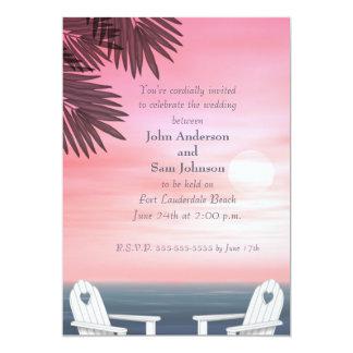 Invitaciones gay de encargo del boda de playa invitación 12,7 x 17,8 cm