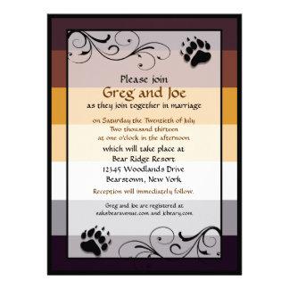 Invitaciones gay de encargo del boda del orgullo d invitacion personalizada