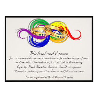 Invitaciones gay de encargo del boda, No-Formales Invitación 16,5 X 22,2 Cm