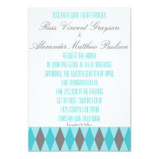 Invitaciones gay del trullo y del boda del invitacion personal