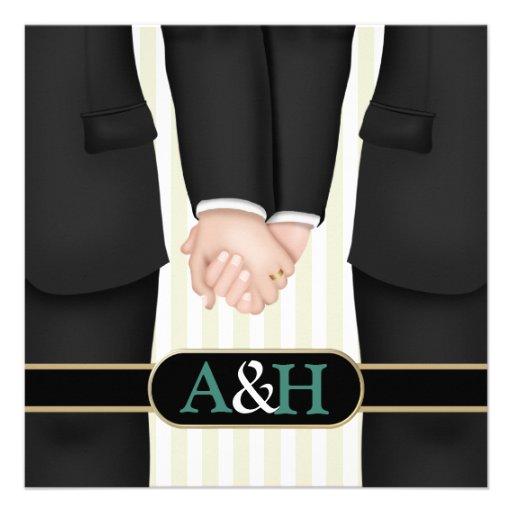Invitaciones gay personalizadas del boda anuncio personalizado