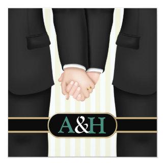 Invitaciones gay personalizadas del boda invitación 13,3 cm x 13,3cm