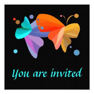 Invitaciones gemelas de las mariposas invitaciones personalizada