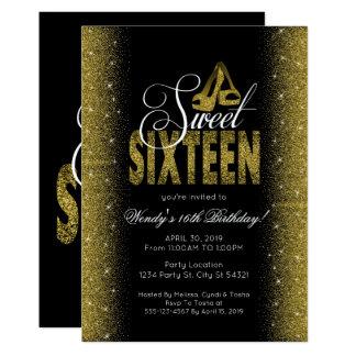 Invitaciones glamorosas del fiesta del dulce 16