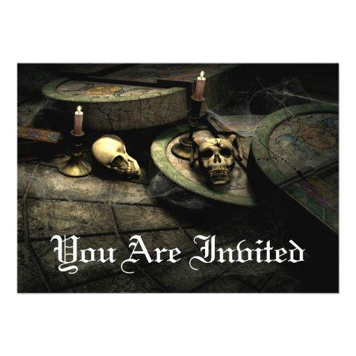 Invitaciones góticas de la fiesta de cumpleaños comunicado personal