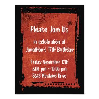Invitaciones góticas del cumpleaños del Grunge del Invitación 10,8 X 13,9 Cm