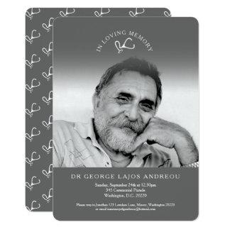 Invitaciones grises del entierro del doctor de la invitación 12,7 x 17,8 cm
