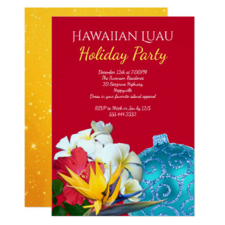Invitaciones hawaianas de la celebración de días invitación 12,7 x 17,8 cm