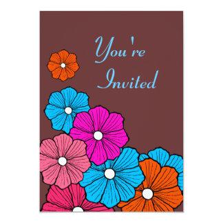 Invitaciones hawaianas de la flor anuncios