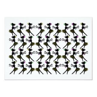 Invitaciones hawaianas de las invitaciones del invitación 12,7 x 17,8 cm