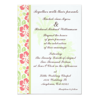 Invitaciones hawaianas del boda de Luau Invitación 12,7 X 17,8 Cm