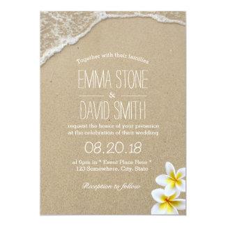 Invitaciones hawaianas del boda del destino de la invitación 12,7 x 17,8 cm