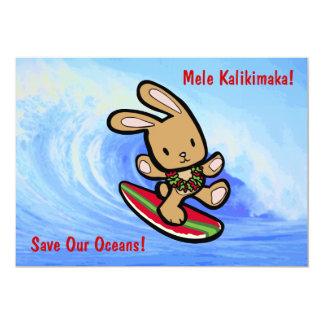 Invitaciones hawaianas del día de fiesta del anuncios personalizados