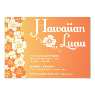 INVITACIONES HAWAIANAS DEL FIESTA DE LUAU EL ANUNCIOS PERSONALIZADOS