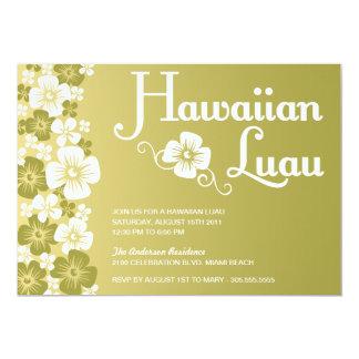 INVITACIONES HAWAIANAS DEL FIESTA DE LUAU EL COMUNICADO