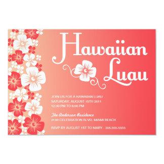 INVITACIONES HAWAIANAS DEL FIESTA DE LUAU EL INVITACIÓN 12,7 X 17,8 CM