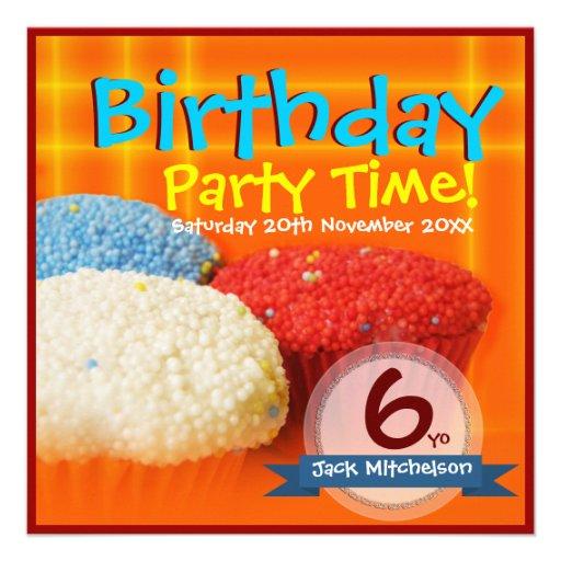 Invitaciones hechas en casa del cumpleaños de las  anuncio