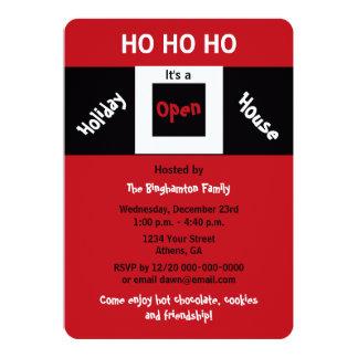 Invitaciones HOHOHO de la casa abierta del día de Invitación 12,7 X 17,8 Cm