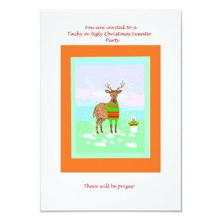 Invitaciones inTacky de la fiesta de Navidad del Invitación 8,9 X 12,7 Cm