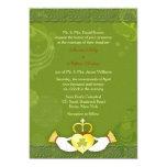 Invitaciones irlandesas del boda del oro elegante invitación 12,7 x 17,8 cm