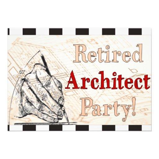 Invitaciones jubiladas del fiesta del arquitecto comunicado