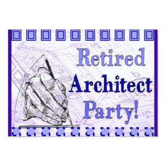 Invitaciones jubiladas del fiesta del arquitecto anuncios personalizados