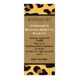 Invitaciones largas del estampado de animales del invitación 10,1 x 23,5 cm