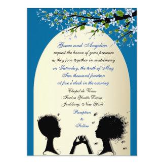 Invitaciones lesbianas de encargo del boda de la invitación