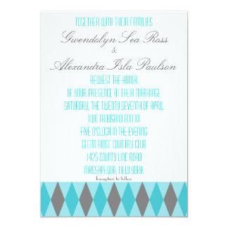 Invitaciones lesbianas del trullo y del boda del invitación 12,7 x 17,8 cm