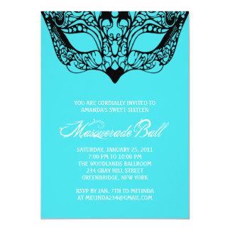 Invitaciones ligeras de la mascarada de las azules invitacion personalizada