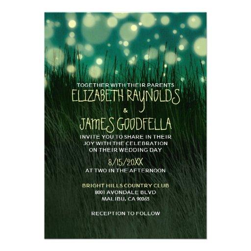 Invitaciones ligeras del boda del jardín invitacion personalizada