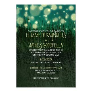 Invitaciones ligeras del boda del jardín invitación 12,7 x 17,8 cm