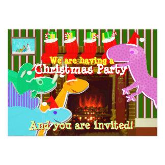Invitaciones lindas de los dinosaurios del dibujo  comunicado personal
