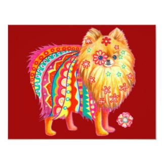 Invitaciones lindas de Pomeranian para cualquier Invitación 10,8 X 13,9 Cm