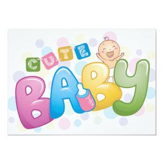 Invitaciones lindas del bebé invitación 12,7 x 17,8 cm