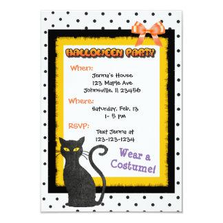Invitaciones lindas del CAT negro Halloween