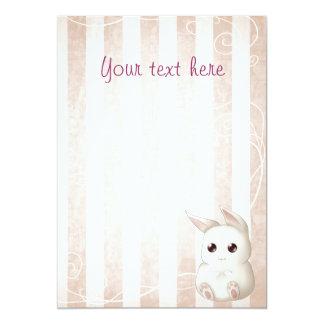 Invitaciones lindas del conejo de conejito de comunicado personal