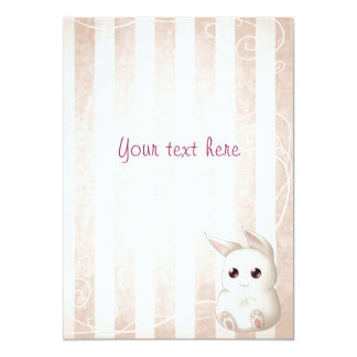 Invitaciones lindas del conejo de conejito de comunicados personalizados