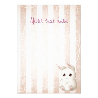 Invitaciones lindas del conejo de conejito de Kawa